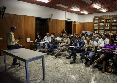 October 2019 - Alexander Purcell, Professor Emeritus at the University of California, during a conference on Xylella at the University of Bari. He is one of the most important scientist worldwide, among those who study the bacterium known as Xylella fasti
